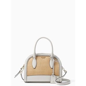 Kate Spade reiley straw medium dome satchel